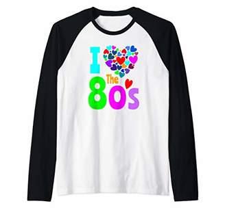 I Love The 80's Shirt 80s Party 1980's Clothes Costume Raglan Baseball Tee