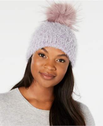 Echo Fuzzy Cable-Knit Pom Pom Hat, Created for Macy's