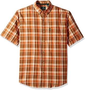 G.H. Bass & Co. Men's Upland Spacdye Button Down Short Sleeve Shirt
