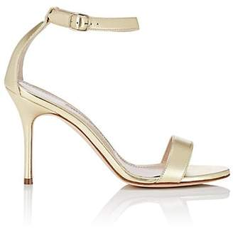 Manolo Blahnik Women's Chaos Metallic Leather Sandals - Gold