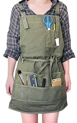 Tour Artist Canvas Apron with Pockets for Women/Men/Unisex