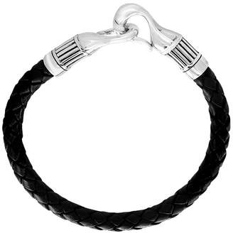 Effy Fine Jewelry Silver & Braided Leather Bracelet