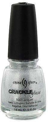 China Glaze Platinum Pieces Silver Metal Crackle