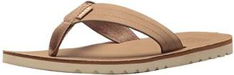 Reef Men's Sandal Voyage LE   Premium Real Leather Flip Flops for Men with Soft Cushion Footbed   Waterproof