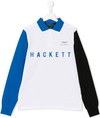 Hackett (ハケット) - Hackett Kids TEEN logo print polo shirt