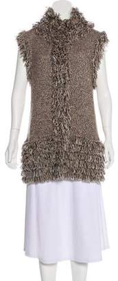 Magaschoni Fringed Knit Vest
