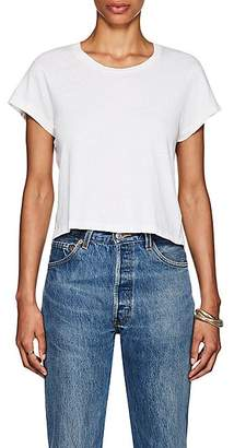 RE/DONE Women's 1950s Boxy Crop Tee - White