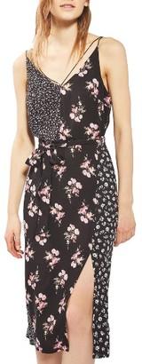 Women's Topshop Patchwork Floral Midi Slipdress $75 thestylecure.com