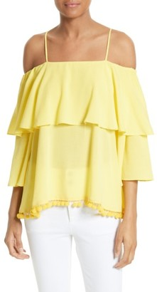 Women's Alice + Olivia Meagan Tiered Blouse $225 thestylecure.com