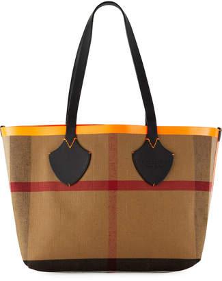 Burberry Check-Print Canvas Tote Bag