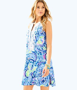 Lilly Pulitzer Womens Carlotta Stretch Shift Dress