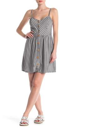 Angie Striped Sleeveless Fit & Flare Dress