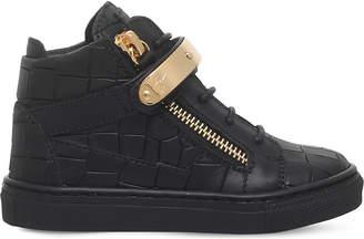 Giuseppe Zanotti Nicki croc-embossed leather trainers 2-4 years