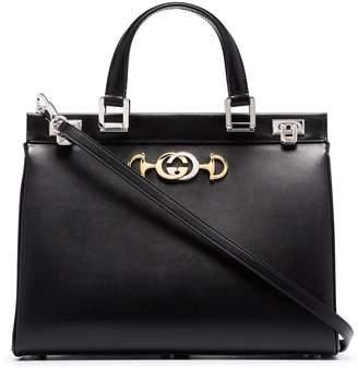 Gucci Zumi smooth leather medium top handle bag