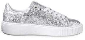Puma Basket Glitter Platform Sneakers