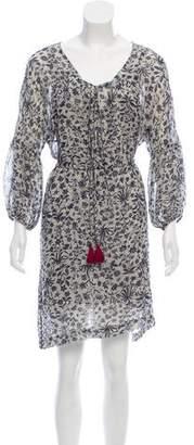 Figue Silk Long Sleeve Mini Dress