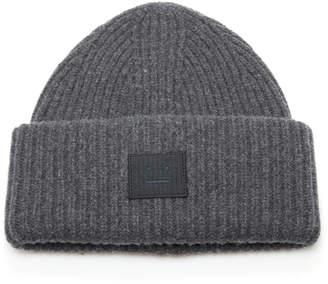 Acne Studios Appliquéd Rib-Knit Wool Beanie