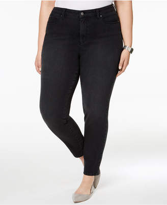 Charter Club Plus Size Windham Tummy-Control Skinny Jeans, Created for Macy's