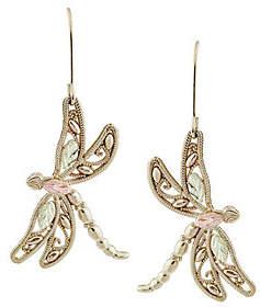 Black Hills Dragonfly Earrings, 10K/12K Gold