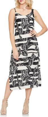 Vince Camuto Tropical Shadows Midi Slipdress