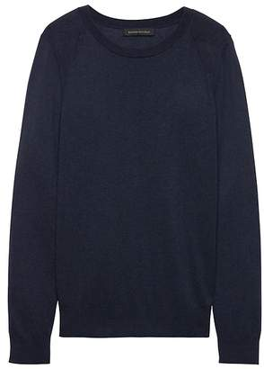 Banana Republic Silk-Cotton Crew-Neck Sweater