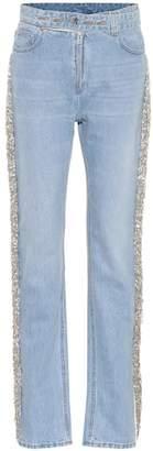 Helmut Lang Straight-leg embellished jeans