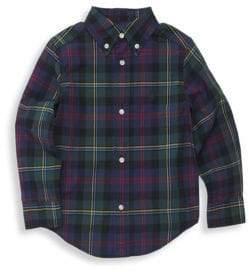 Ralph Lauren Little Boy's& Boy's Plaid Button-Down Shirt