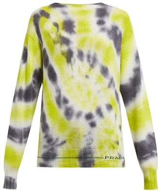 Prada Tie Dye Wool Blend Sweater - Womens - Grey Multi