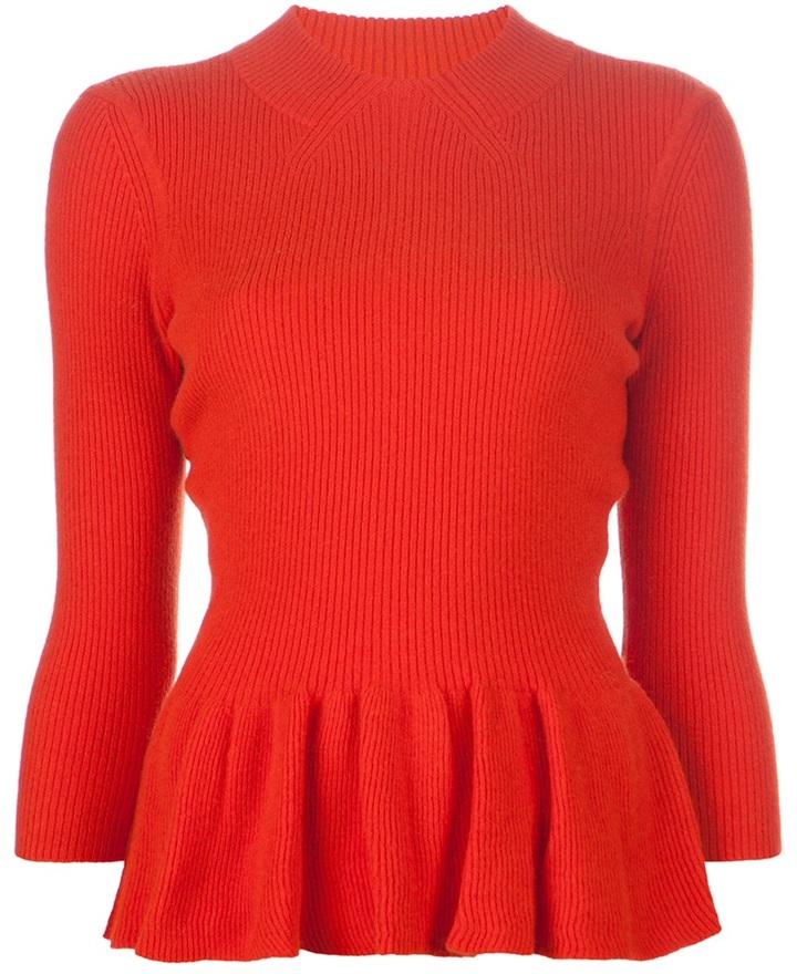 Tory Burch 'Madeline' peplum sweater