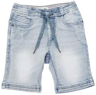 Molo Washed Stretch Cotton Denim Shorts