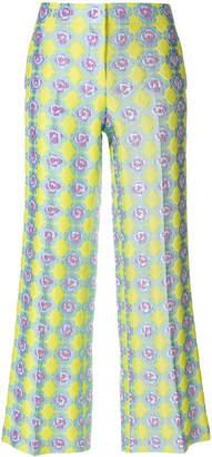Emilio Pucci printed wide leg jacquard trousers