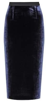 Roland Mouret Arreton velvet skirt