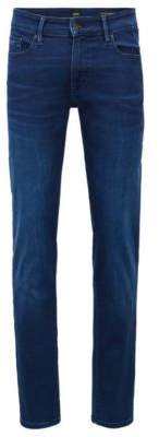 BOSS Hugo Skinny-fit jeans in super-stretch satin denim 31/32 Dark Blue