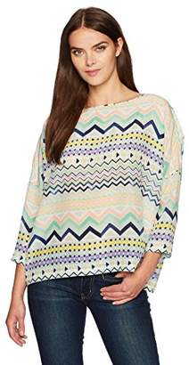 M Missoni Women's Zig Zag Silk Top