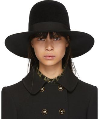 Dolce & Gabbana Black Rabbit Fur Fedora