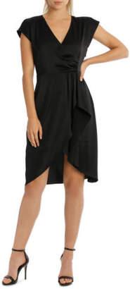 NEW Wayne Cooper Black Wrap Dress