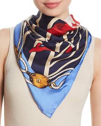 Polo Ralph Lauren Nautical Flag Silk Square Scarf