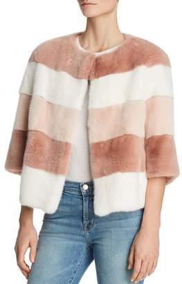 Maximilian Furs Color-Block Mink Fur Coat - 100% Exclusive