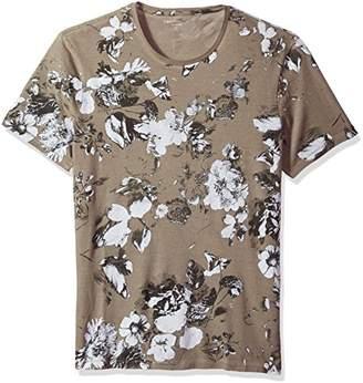 Calvin Klein Jeans Men's Short Sleeve Washed Floral Crewneck T-Shirt