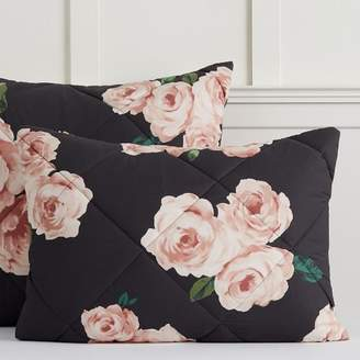 Pottery Barn Teen The Emily & Meritt Bed of Roses Sham, Standard, Black Floral