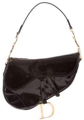 Christian Dior Diorissimo Embossed Saddle Bag