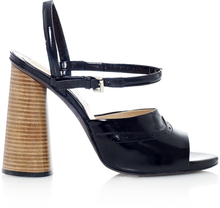 Carven Spazzalato stacked heel leather sandals