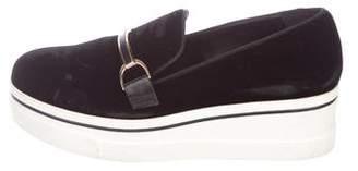 Stella McCartney Velvet Platform Sneakers