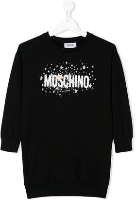 Moschino Kids star logo sweatshirt dress
