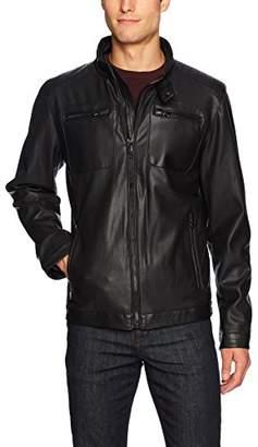 Buffalo David Bitton by David Bitton Men's Perforated Faux Leather Jacket
