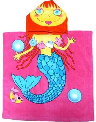 Kreative Seashell Mermaid Beach Hooded Kids Bath Towel