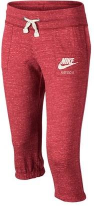 Girl's Nike 'Vintage' Capri Sweatpants $40 thestylecure.com