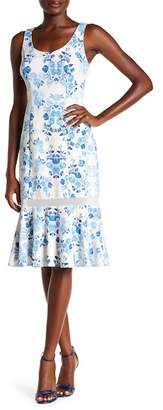 Donna Morgan Sleeveless Printed Scuba Midi Dress