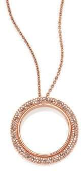 Astley Clarke Rising Sun Diamond& 14K Rose Gold Double Eclipse Pendant Necklace