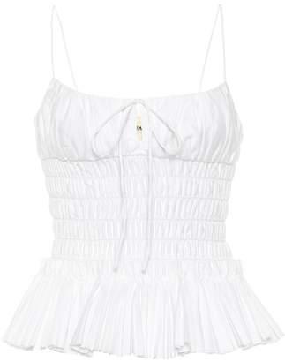 4e8f82fc14bda KHAITE The Dagny smocked cotton camisole